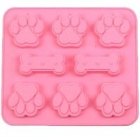 Silicone Pet Dog Bone Paw Soap Mold Candy Chocolate Fondant Tray ICE Cube Mould