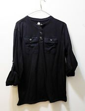 HELIX Men's Black 2 Pocket Shirt with Cuffable Sleeves - Size S - 100% Cotton