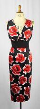 Knee Length V Neck Wiggle, Pencil Floral Dresses for Women
