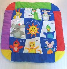 Vtg Baby Einstein Farm Animal Friends Play Mat Colorful Elephant Bunny Rabbit