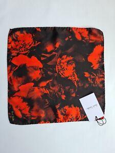 "Paul Smith Pocket Square ""Floral"" Print 100% Silk"