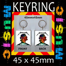 HARDWIRED... TO SELF-DESTRUCT METALLICA-CD COVER KEYRING-KEY CHAIN-KEY RING #3