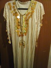 Belly Dance galabeya Costume (jaune clair Taille 8-10)