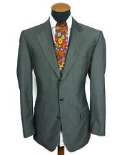 Men's Hugo Boss Blazer 42R Wool Mohair Sharkskin Sport Coat Grey Jacket gr. 52