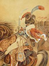 Hussard à cheval armée Napoléon framed militry