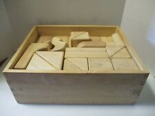 Melissa & Doug Standard Unit Wooden Building Blocks In Wood Case, Pre-Owned