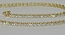 9ct Yellow Gold on Silver 1.00ct Ladies Tennis Bracelet