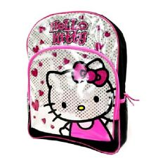 hello kitty glittery back to school student backpack hearts pink barbie teens