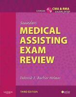 Saunders Medical Assisting Exam Review by Barbier-Holmes, Deborah E.