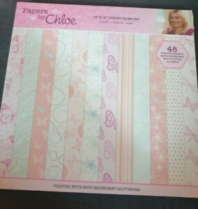 STAMPS BY CHLOE 12x12 GLITTERED PAPER PAD 46 SHEETS
