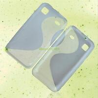 HOUSSE ETUI COQUE SILICONE GEL GRIS SAMSUNG GALAXY S i9000 / GALAXY S SCL i9003