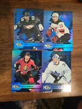 New listing 20-21 UD SKYBOX METAL UNIVERSE HOCKEY LOT OF 4 BLUE PARALELL CARDS