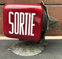 VTG DOUBLE SIDED SORTIE EXIT LIGHT SIGN FIXTURE CINEMA MOVIE THEATER 1950 SCONCE