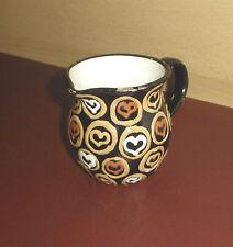 KRUG Milchkrug Keramikkrug farbig glasiert Herzen Jug pottery hearts shabby chic