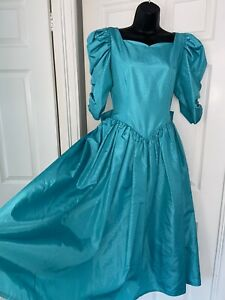 Vintage Fiona Nicoll Scotland Victorian Style Bridal Prom Maxi Princess Dress 12