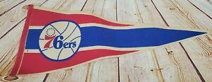 Philadelphia 76ers NBA Vintage 1970's Logo Basketball Pennant