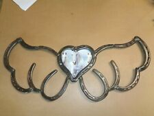 beautiful one of a kind Horseshoe Heart Angel Wing Wall Plaque