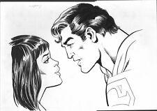 Superman-Lois Lane-Unpublished Portrait-Original Art 1980's-Dick Diordano-FN