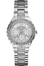 Women's Analog Display White Dial Guess Quartz  Stainless Steel Watch W0111L1