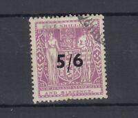 New Zealand 1940 5s 6d On 5s 6d O/P Fiscal SGF188 VFU JK1526