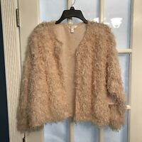 Lauren Conrad LC Womens Peach Feather Jacket New With Tags SIZEXXL NEW!