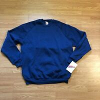 vtg 90s NWT JERZEES Blank Crewneck 50/50 Sweatshirt Blue Men's XXXL MADE IN USA
