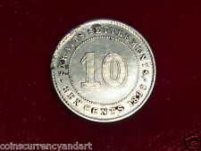 1886  Straits Settlements Ten  Cents