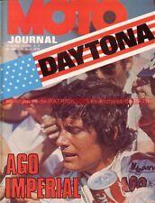 MOTO JOURNAL  160 GUZZI 125 Charles COUTARD MONARK Cross AGOSTINI à DAYTONA 1974