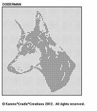 Doberman Pinscher Filet Crochet Pattern