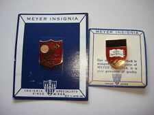 Set Of 2 US Military Metal Pins Made By NS MEYER Co. - NEW YORK
