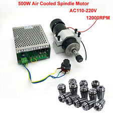 ER11 500W CNC Air Cooling Spindle Motor + 52mm Holder + Speed Governor Mi