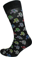 Farm Tractors Unisex Novelty Black Ankle Socks Adult Size 6-11