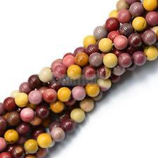 8mm Mookaite jaspe natural piedra redonda espaciador suelto perlas filamento