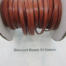 10 Feet Tan Leather Lacing (3mm) 1/8 inch by 120 Inches Real Leather Crafts
