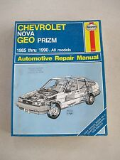HAYNES 1642 Automotive Repair Manual Book Chevy Nova Geo Prizm 85-90 All Models