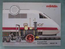 DV7399 CATALOGUE GENERAL MARKLIN HO 1991 / 1992 F NL VINTAGE COMPLET BON ETAT