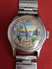 POBEDA VINTAGE WRIST WATCH 15 JEWELS USSR/RUSSIAN MADE RUNNING CONDITION