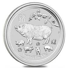 2019 P Australia Silver Lunar Year of the Pig 1 oz $1 - Fresh from Mint Roll
