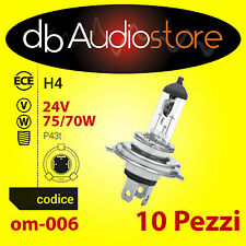 BlackLight OM-006 bulbs 10 lampade ricambio OEM Line H4 24V 75/70W OMOLOGATE
