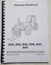 JCB 530 532 533 535 537 540 OPERATOR MANUAL REPRINTED COMB BOUND