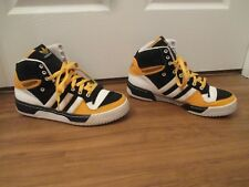 Used Worn Size 11 Adidas Attitude Hi Basketball Shoes Black Yellow White