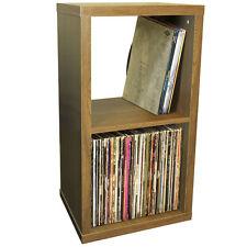 CUBE - 2 Cubby Square Display Shelves / Vinyl LP Storage - Oak 4112OC