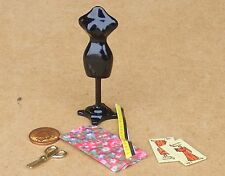 1:12 Scale Dolls House Metal Tailors Dummy Dress Making Kit Manequin Accessory