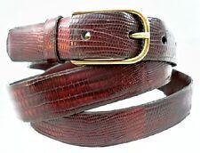 Women's TRAFALGAR DARK RED EXOTIC Size: 30 Belt A01
