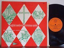 "NEW YORK PRO MUSICA ""English Medieval Christmas Carols"" RARE EXC COUNTERPOINT LP"