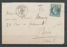 1869 Lettre Gros Chiffre N°586 +CAD T15 Bourron SEINE ET MARNE(73) X2386