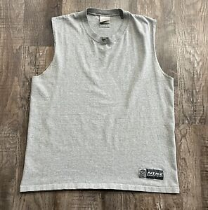 Vintage Nike Basketball Sleeveless Center Swoosh Shirt Size M Made In The USA
