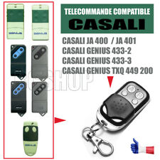 TELECOMMANDE PORTAIL CLONE CASALI JA 400 401 GENIUS 433 TXQ 449 200 BIP GARAGE