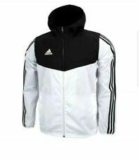 Adidas Tiro Windbreaker Rain Jacket Hoodie Full Zip Sportswear White DY0097 XL