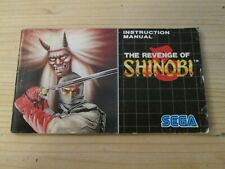 Revenge of Shinobi **Instruction Manual Only** Sega Megadrive PAL